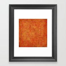 Orange with Gold Script Framed Art Print