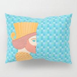 Ancient Persian Warrior Pop Art Pillow Sham