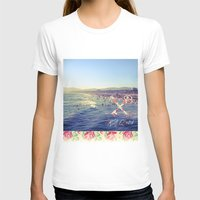 santa monica T-shirts featuring Santa Monica Beach by Kurt Schawacker