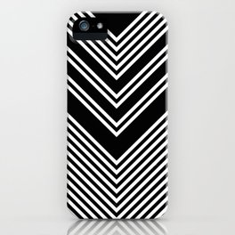 Back and White Lines Minimal Pattern no.2 iPhone Case