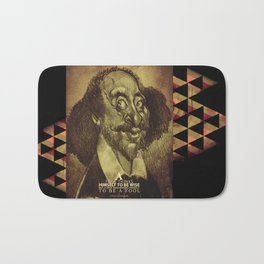 William Shakespeare-wise and fool Bath Mat