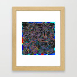 View of Everything Psychedelic Glitch Framed Art Print