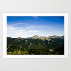 On the Moutain ? Art Print