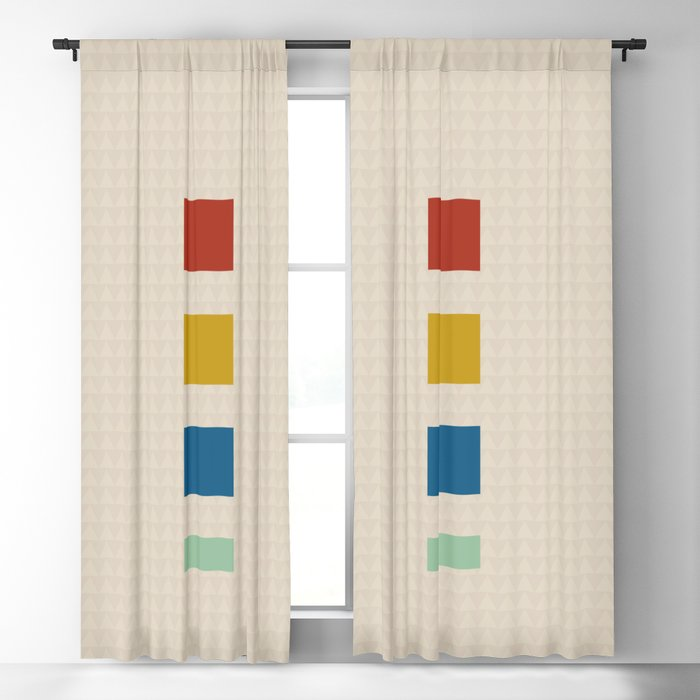 four elements || tweed & primary colors Blackout Curtain