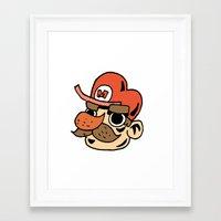super mario Framed Art Prints featuring Super Mario by Deoz World