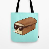 bread Tote Bags featuring Cool Bread by Josh LaFayette
