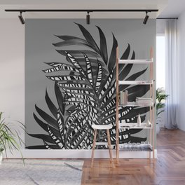 Palm Leaves with Tiger Stripe Glam #1 #tropical #decor #art #society6 Wall Mural