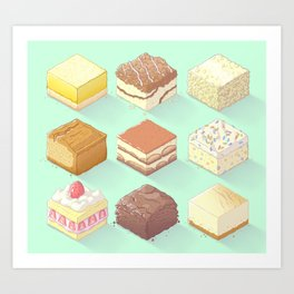 Sweet Cubes Art Print