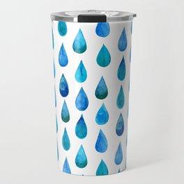 Blue Raindrop Travel Mug