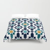 islam Duvet Covers featuring Marrakesh by Patterns and Textures