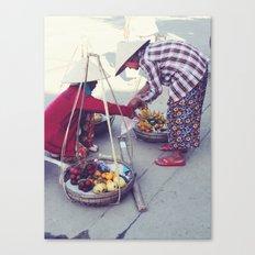 Fruit Sellers, Hoi An.  Canvas Print