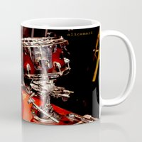 drums Mugs featuring Drums  by Alice Mari