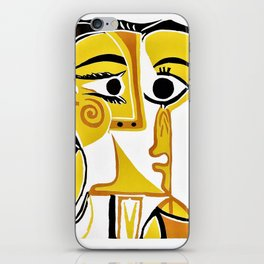 Pablo Picasso - Stylized Portrait of Jacqueline - Digital Remastered Edition iPhone Skin