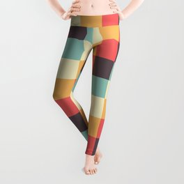 When dad was young - Pixel pattern in muted pastel colors Leggings