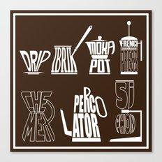 TYPOCOFFEE Canvas Print