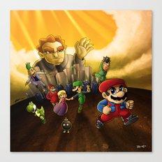 Super Mario Bros. The Movie: The Game Canvas Print