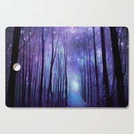 Fantasy Forest Path Icy Violet Blue Cutting Board