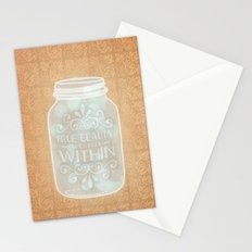 True beauty comes from within Stationery Cards