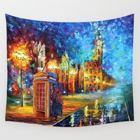 221b Wall Tapestries featuring Sherlock and Big ben starry the night iPhone 4 4s 5 5c 6, pillow case, mugs and tshirt by Three Second