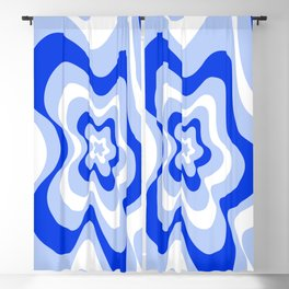 Abstract pattern - blue and white. Blackout Curtain