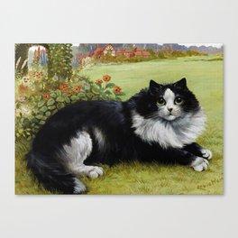 Black & White Kitty - Louis Wain Cats Canvas Print