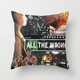 All The Wrong Places Throw Pillow