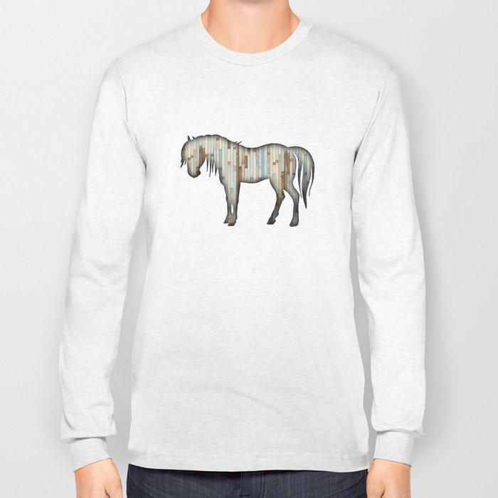 Wooden horse Long Sleeve T-shirt