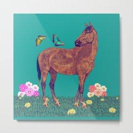 Spring time, love horses Metal Print