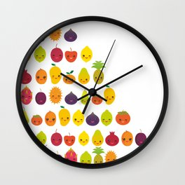 numbers for preschool kindergarten kids kawaii fruit from one to ten Wall Clock