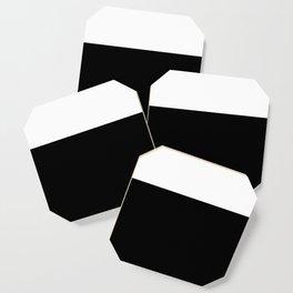 Color Block-Black and White Coaster