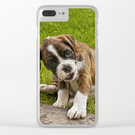 Boxer Pupy Clear iPhone Case