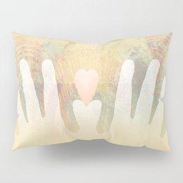 Healing Hands Yellow Pillow Sham