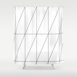 Inverted Triangles by Friztin Shower Curtain