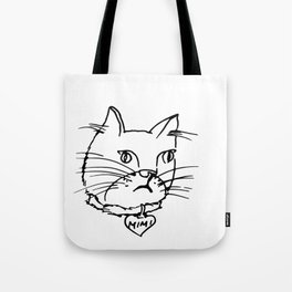 mimi cat drawing dazed feline by cecilia lee Tote Bag