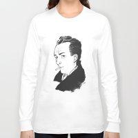 camus Long Sleeve T-shirts featuring Camus 1 by reymonstruo