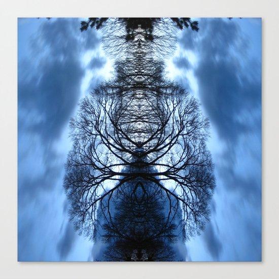 Tree Man Night photography  Canvas Print