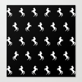 Black And White Unicorns Canvas Print