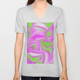 Neon Watermelon Trippy Tye Dye Unisex V-Neck