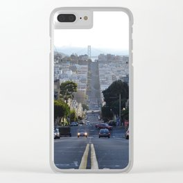 Down The Street Clear iPhone Case