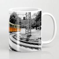 budapest Mugs featuring Budapest Tram by Dan Davidson