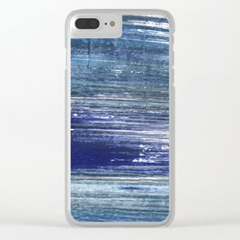 Blue painting Clear iPhone Case