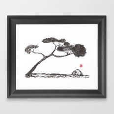 Tree and Stone Framed Art Print