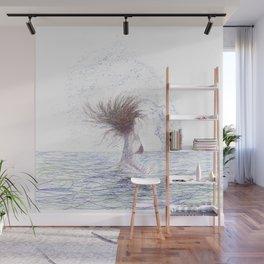 Feeling the Energy of the Sea Wall Mural