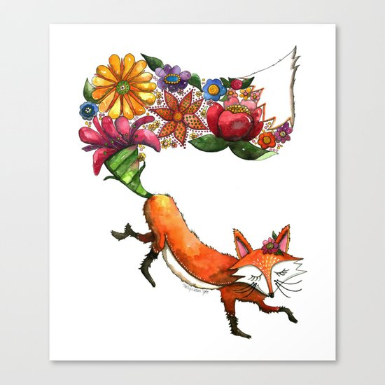 Hunt Flowers Not Foxes One Canvas Print