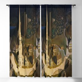 Grant Wood's The Midnight Ride of Paul Revere Blackout Curtain