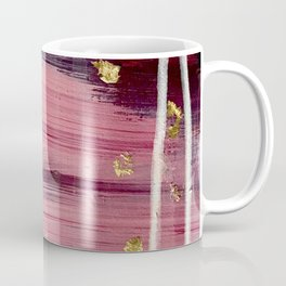 Los Angeles [3]: A vibrant, abstract piece in reds and blues and gold by Alyssa Hamilton Art Coffee Mug