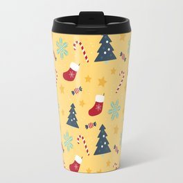 It's Christmas Time Colourful Pattern VI Travel Mug