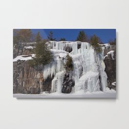 winter waterfall Metal Print
