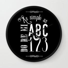 As simple as (B&W) Wall Clock
