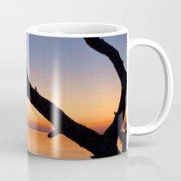Watercolor Landscape Nags Head Sunset, Paradise Silhouette Coffee Mug
